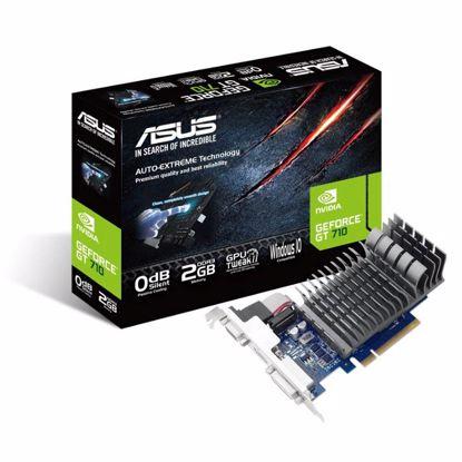 Fotografija izdelka ASUS GeForce GT 710 2GB DDR3 Silent (710-2-SL) low profile grafična kartica