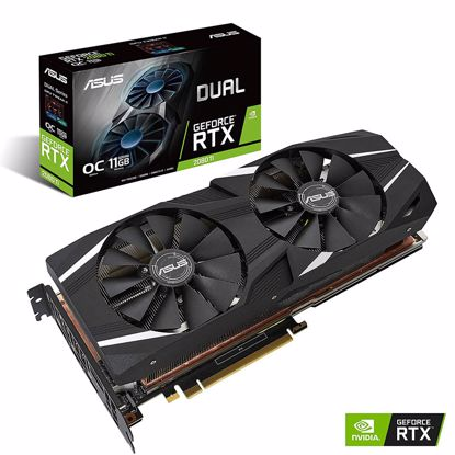Fotografija izdelka ASUS GeForce RTX 2080 Ti DUAL OC 11GB GDDR6 (DUAL-RTX2080TI-O11G) grafična kartica
