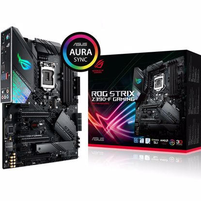 Fotografija izdelka ASUS ROG STRIX Z390-F GAMING LGA1151 (9th/8th-gen) ATX DDR4 RGB gaming matična plošča