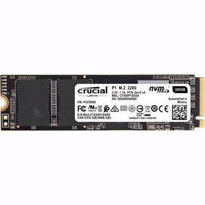Fotografija izdelka CRUCIAL P1 500GB M.2 2280 NVMe PCIe (CT500P1SSD8) SSD