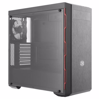 Fotografija izdelka COOLER MASTER MasterBox MB600L midi ATX (MCB-B600L-KA5N-S00) črno/rdeče ohišje