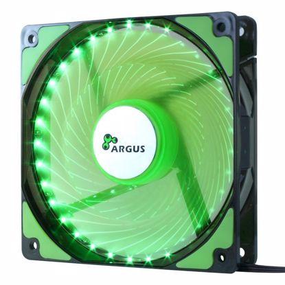 Fotografija izdelka INTER-TECH Argus L-12025 GR zelen LED 120mm ventilator