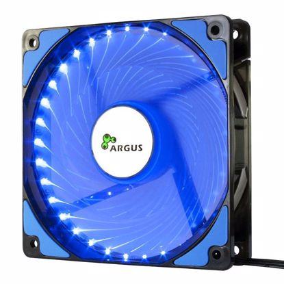 Fotografija izdelka INTER-TECH Argus L-12025 BL moder LED 120mm ventilator