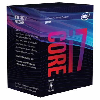 Fotografija izdelka INTEL Core i7-8700 3,2/4,6GHz 6-core 12MB LGA1151 BOX procesor