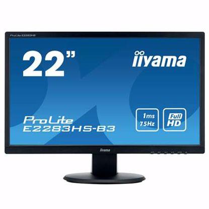 "Fotografija izdelka IIYAMA ProLite E2283HS-B3 54,7cm (21,5"") FHD TN VGA/HDMI/DP zvočniki LED LCD monitor"