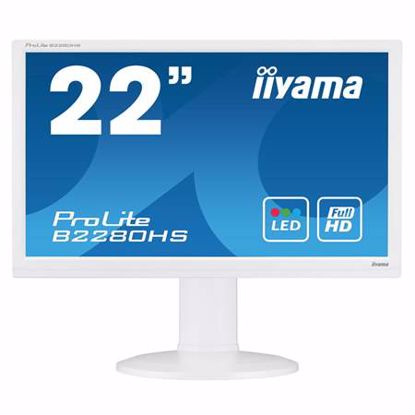 """Fotografija izdelka IIYAMA ProLite B2280HS-W1 54,6cm (21,5"""") FHD TN VGA/DVI/HDMI zvočniki bel LED LCD monitor"""