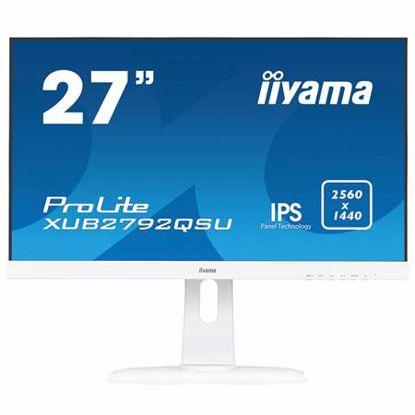 """Fotografija izdelka IIYAMA ProLite XUB2792QSU-W1 68,6cm (27"""") WQHD IPS FreeSync zvočniki bel LED LCD monitor"""