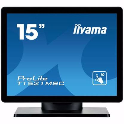 """Fotografija izdelka IIYAMA T1521MSC-B1 38cm (15"""") XGA P-CAP zvočniki na dotik LED LCD monitor"""