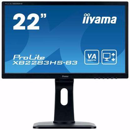 "Fotografija izdelka IIYAMA PROLITE XB2283HS-B3 54,7 cm (21,5"") FHD VA LED VGA/HDMI/DP zvočniki monitor"