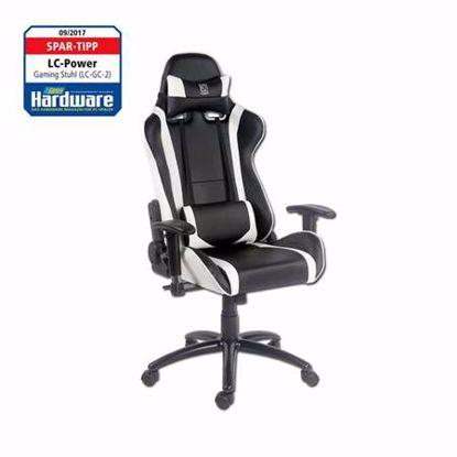 Fotografija izdelka LC-POWER LC-GC-2 bel/črn gaming stol
