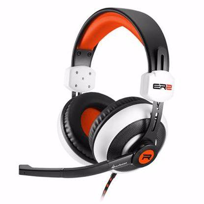 Fotografija izdelka SHARKOON RUSH ER2 belo/oranžne gaming slušalke