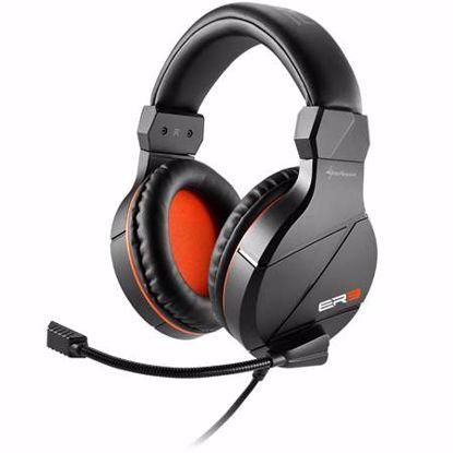 Fotografija izdelka SHARKOON RUSH ER3 z mikrofonom črne gaming slušalke