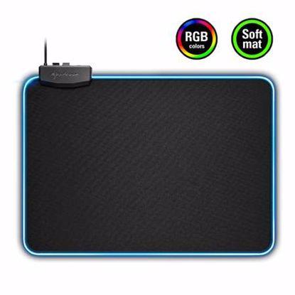 Fotografija izdelka SHARKOON 1337 RGB črna velikost L gaming podloga za miško