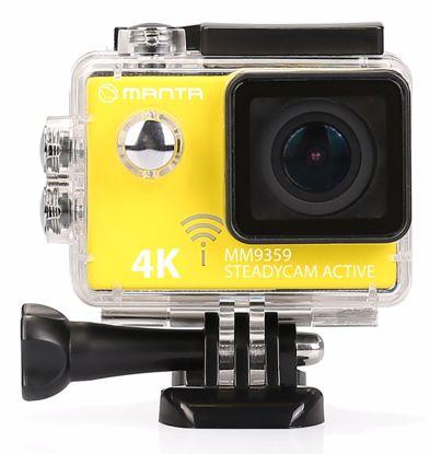 Fotografija izdelka Aktivna športna kamera MANTA MM9359 Premium STEADYCAM ACTIVE, Premium, 4K-UHD,WiFi, Stabilizator