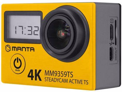 Fotografija izdelka Aktivna športna kamera MANTA MM9359TS z zaslonom na dotik, dodatnim zaslonom in stabilizacijo, 4K-UHD,WiFi