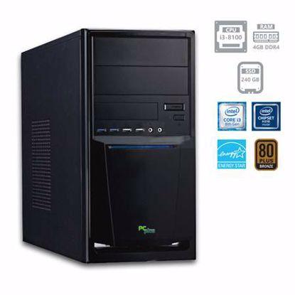 Fotografija izdelka PCPLUS e-office i3-8100 4GB 240GB SSD
