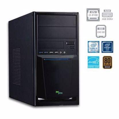 Fotografija izdelka PCPLUS e-office i3-8100 4GB 240GB SSD W10PRO