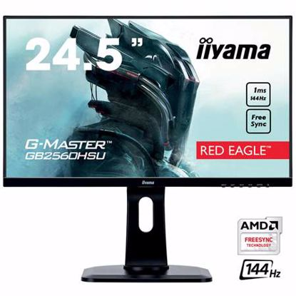 "Fotografija izdelka IIYAMA G-MASTER Red Eagle GB2560HSU-B1 62,2cm (24,5"") FHD TN HDMI/DP/USB FreeSync 1ms 144 Hz zvočniki gaming LED LCD monitor"