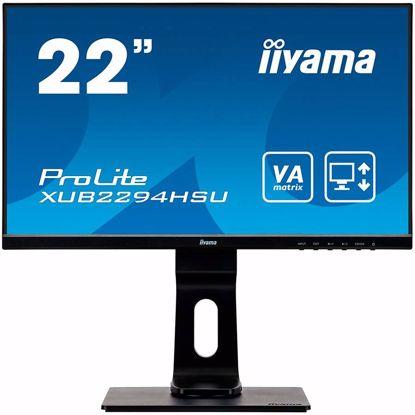 Fotografija izdelka IIYAMA ProLite XUB2294HSU-B1 Triple input configuration (VGA, HDMI, DisplayPort) and a USB hub , Pivot