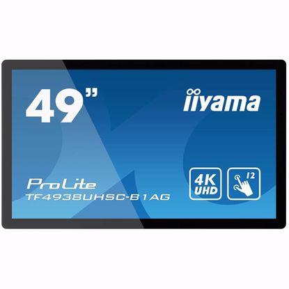 "Fotografija izdelka IIYAMA Monitor 49"" PCAP Anti-glare Bezel Free 12-Points Touch Screen, 3840x2160 (4K), IPS panel, 24/7 operation, 2xHDMI, DisplayPort, DVI, VGA, 420cd/m², 1100:1, 8ms, Landscape, Portrait or Face-up mode, USB Touch Interface, RS232C & Remote Control"