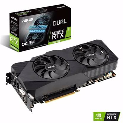 Fotografija izdelka ASUS Dual GeForce RTX 2060 SUPER EVO OC 8GB GDDR6 (DUAL-RTX2060S-O8G-EVO) grafična kartica