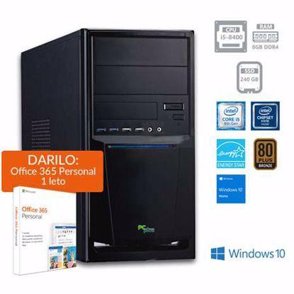 Fotografija izdelka PCPLUS e-office i5-8400 8GB 240GB SSD Windows 10 Home + darilo: 1 leto Office 365 Personal