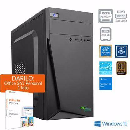 Fotografija izdelka PCPLUS Family Pentium G5400 4GB 240GB SSD Windows 10 Home + darilo: 1 leto Office 365 Personal