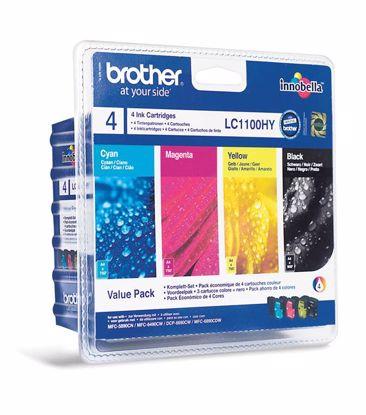 Fotografija izdelka Brother Kartuša LC1100VALBP, ValuePack DCP6690 MFC6490/6890/5895/490 DCP385/592