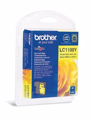 Fotografija izdelka Brother Kartuša LC1100Y, yellow, 325 strani DCP6690 MFC6490/6890/5895/490 DCP385/593