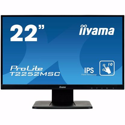 "Fotografija izdelka IIYAMA Monitor Prolite, 21,5"" OGS-PCAP 10P Touch Screen, 1920x1080, IPS-slim panel design, VGA, HDMI, DisplayPort, 250cd/m² (with touch), 1000:1 Static Contrast, 7ms"
