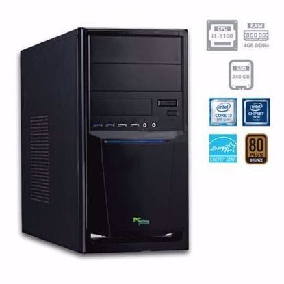 Fotografija izdelka PCPLUS e-office i3-8100 4GB 240GB SSD W10PRO + OFFICE 2019 Home&Business