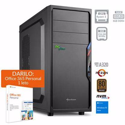 Fotografija izdelka PCPLUS i-net AMD Ryzen 3 3200G 8GB 256GB NVMe SSD Windows 10 Home + darilo:1 leto Office 365 Personal