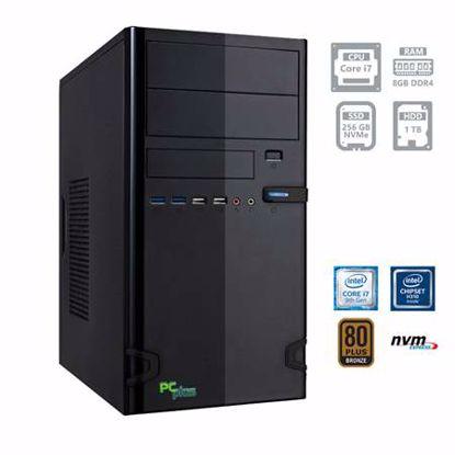 Fotografija izdelka PCPLUS e-office i7-9700 8GB 256GB NVMe SSD 1TB HDD DOS