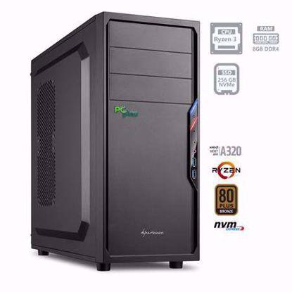 Fotografija izdelka PCPLUS i-net AMD Ryzen 3 3200G 8GB 256GB NVMe SSD W10PRO