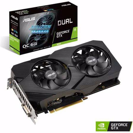 Fotografija izdelka ASUS Dual GeForce GTX 1660 6GB GDDR5 OC EVO (DUAL-GTX1660-O6G-EVO) gaming grafična kartica