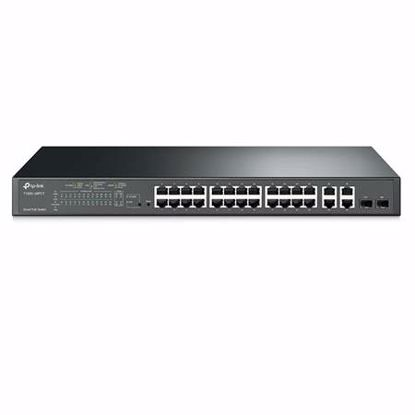 Fotografija izdelka TP-LINK JetStream T1500-28PCT 24-port 24x10/100 4xgigabit Smart PoE+ 2x SFP mrežno stikalo-switch