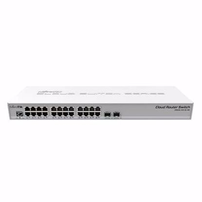 Fotografija izdelka MIKROTIK Cloud Router Switch CRS326-24G-2S+RM 24-portno 2x SFP+ Dual boot stikalo