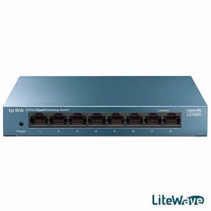 Fotografija izdelka TP-LINK LiteWave LS108G 8-port 10/100/1000Mbps Desktop mrežno stikalo