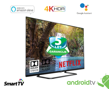 """Fotografija izdelka LED TV TCL 55"""" (diagonala 140cm) 55EP680, 4K-UHD, HDR Pro, Android 9.0, Pameten, WiFi, 10bit, Micro Dimming,  Wide Color Gamut, Dolby Vision, Ultra tanko metalno ohišje"""