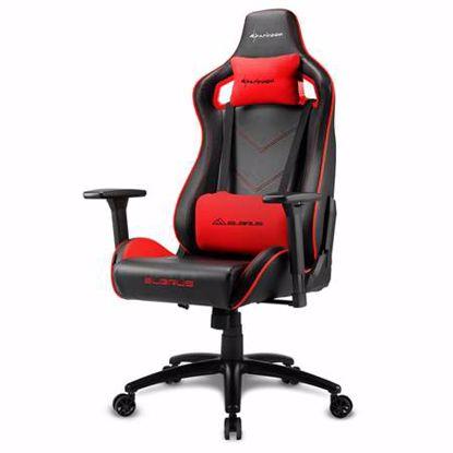 Fotografija izdelka SHARKOON ELBRUS 2 črna/rdeča gaming stol