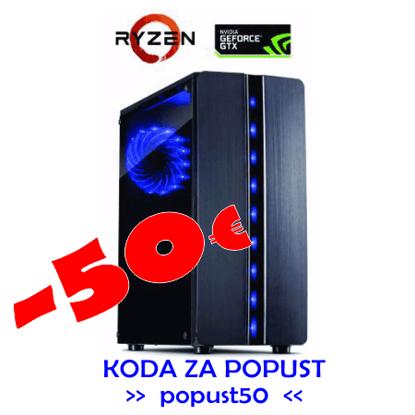 Fotografija izdelka Računalnik  GAMER 20  Ryzen 5/8GB/SSD240GB/HDD1TB/GTX1650-4GB/W10PRO