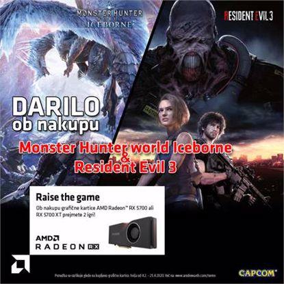 Fotografija izdelka GIGABYTE AORUS Radeon RX 5700 XT 8GB GDDR6 (GV-R57XTAORUS-8GD) RGB grafična kartica + darilo: 2 igri