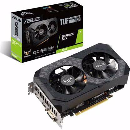 Fotografija izdelka ASUS TUF GeForce GTX1660 OC 6GB GDDR5 (TUF-GTX1660-O6G-GAMING) gaming grafična kartica