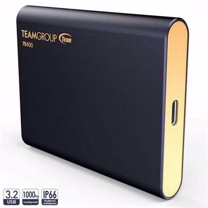 Fotografija izdelka TEAMGROUP PD400 480GB USB3.2 2,5'' (T8FED4480G0C108) vodoodporen modra zunanji SSD