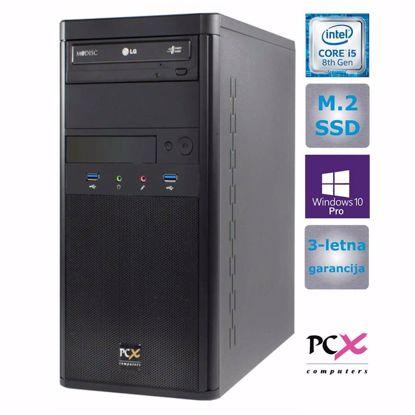 Fotografija izdelka Namizni računalnik PCX EXAM WORX2 (i5-8400/8GB/M.2 250GB/HD630/W10 PRO/KB)