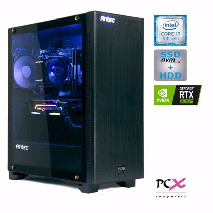Fotografija izdelka Namizni računalnik PCX EXIES i7-9700KF/16GB/SSD500GB/2TB/RTX2070-8GB SUPER