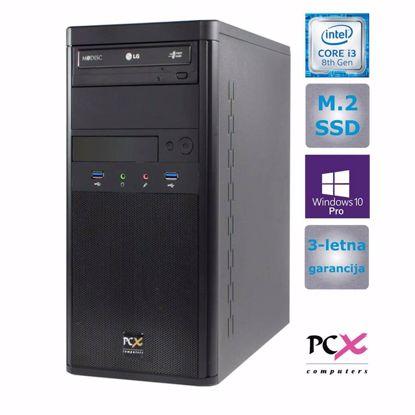 Fotografija izdelka Namizni računalnik PCX EXAM WORX1.3 i3-8100/8GB/250GB/HD630/W10 PRO