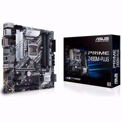 Fotografija izdelka ASUS PRIME Z490M-PLUS LGA1200 (10th-gen) mATX DDR4 USB-C matična plošča