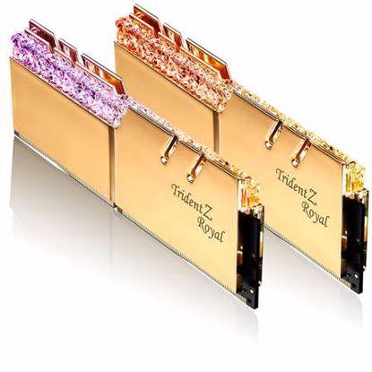 Fotografija izdelka G.SKILL Trident Z Royal RGB 16GB (2x8GB) 3600MHz DDR4 (F4-3600C18D-16GTRG) zlata barva ram pomnilnik
