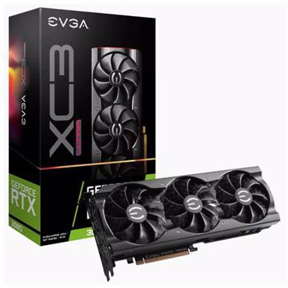 Fotografija izdelka EVGA GeForce RTX 3080 XC3 ULTRA Gaming 10GB GDDR6X (10G-P5-3885-KR) ARGB gaming grafična kartica